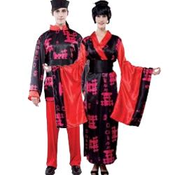 disfraces orientales rojo adulto