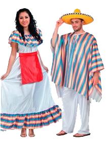 disfraces mejicano mejicana adulto