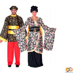 disfraz japoneses dorado